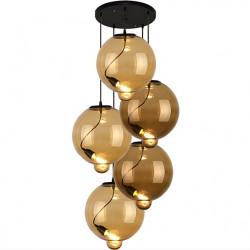 Lampa wisząca Modern Glass Bubble CO CB koniak/brąz