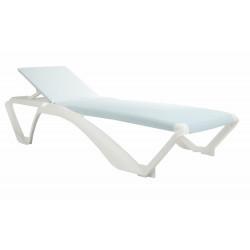 Leżak Marina biały / beżowy