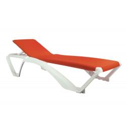 Leżak Marina biały / pomarańczowy