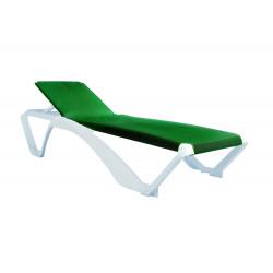 Leżak Marina biały / zielony