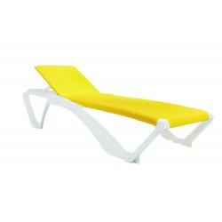Leżak Marina biały / żółty