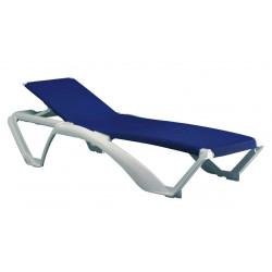 Leżak Marina biały/niebieski