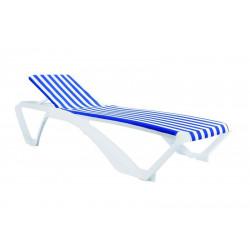 Leżak Marina biały/niebiesko-biały