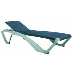 Leżak Marina szary/niebieski jeansowy