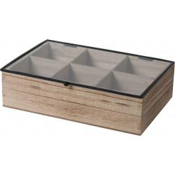 Organizer Teabox wood 6 przegródek