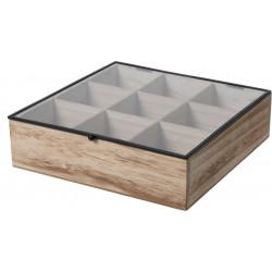 Organizer Teabox wood 9 przegródek