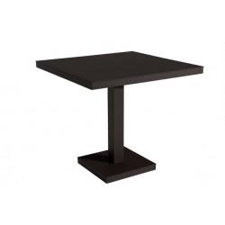 Stół Barcino 80x80 cm z bazą centralną - czarny