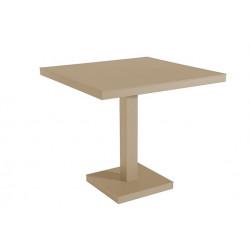 Stół Barcino 90x90 cm z bazą centralną - piaskowy
