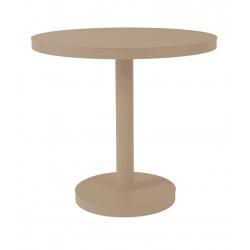 Stół Barcino okrągły 60cm z bazą central ną - piaskowy