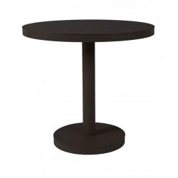Stół Barcino okrągły 80cm z bazą central ną - czarny