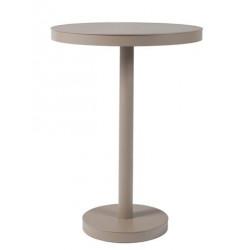 Stół Barcino wysoki, okrągły 60cm z bazą centralną -piaskowy