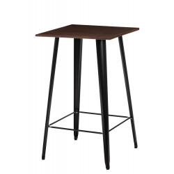Stół barowy Paris Wood czarny sosna orze ch