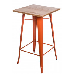 Stół barowy Paris Wood pomarańcz jesion