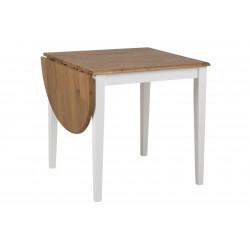 Stół Brisbane zaokrąglony wood/white