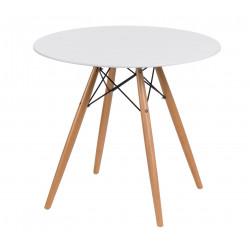 Stół DTW 80 cm, blat biały