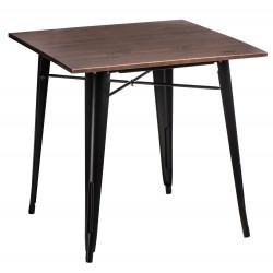 Stół Paris Wood czarny sosna orzech