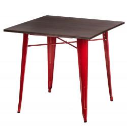 Stół Paris Wood czerwony sosna orzech