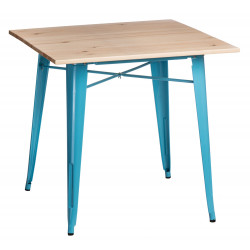 Stół Paris Wood niebieski sosna naturaln a