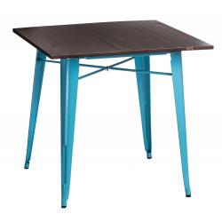 Stół Paris Wood niebieski sosna orzech