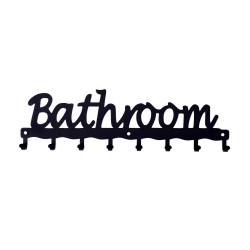 Wieszak ścienny Bathroom czarny