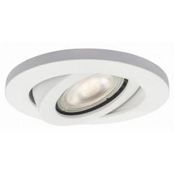 Oczko podtynkowe okrągłe ruchome Lagos białe  LP-440/1RS WH movable - Light Prestige