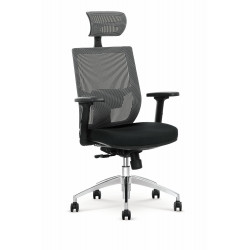 ADMIRAL fotel gabinetowy popielato / czarny - Halmar