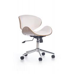 ALTO fotel gabinetowy biały - jasny dąb - Halmar