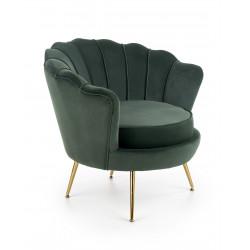 AMORINITO fotel wypoczynkowy ciemny zielony / złoty - Halmar