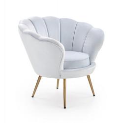 AMORINO fotel wypoczynkowy jasny niebieski, nogi - złote - Halmar