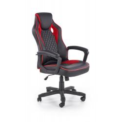 BAFFIN fotel gabinetowy czarny / czerwony - Halmar