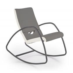 BALANCE fotel bujany biały/popielaty - Halmar