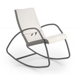 BALANCE fotel bujany popielaty / biały - Halmar