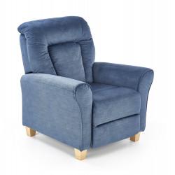 BARD fotel wypoczynkowy ciemny niebieski - Halmar