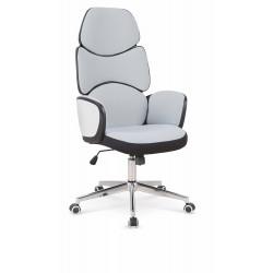 BARON fotel gabinetowy czarny / biały / jasny popiel - Halmar