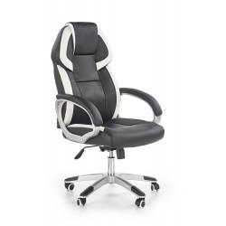 BARTON fotel gabinetowy czarno-biały - Halmar