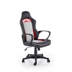 BERING fotel gabinetowy czarny / popielaty / czerwony - Halmar