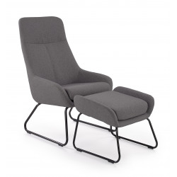BOLERO fotel wypoczynkowy popielaty - Halmar
