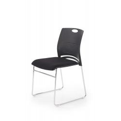 CALI fotel konferecyjny stelaż - chrom, siedzisko - czarny / czarny - Halmar