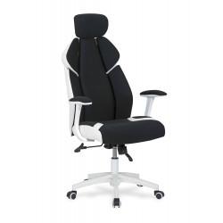 CHRONO fotel gabinetowy biało-czarny - Halmar