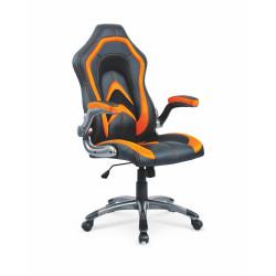COBRA fotel czarno-pomarańczowy - Halmar