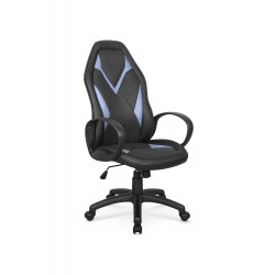 COYOT fotel gabinetowy czarno-niebieski - Halmar