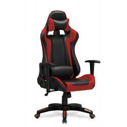 DEFENDER fotel gabinetowy czarno-czerwony - Halmar