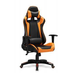 DEFENDER fotel gabinetowy czarno-pomarańczowy - Halmar