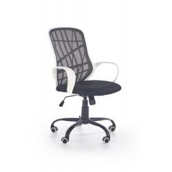 DESSERT fotel pracowniczny biało - czarny - Halmar