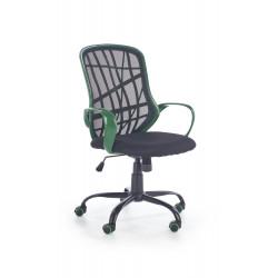 DESSERT fotel pracowniczny zielono - czarny - Halmar