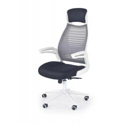 FRANKLIN fotel pracowniczy czarno-popielaty-biały - Halmar