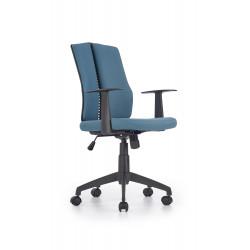 IRON fotel pracowniczy czarno - turkusowy - Halmar