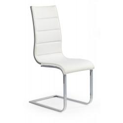 K104 krzesło biały/popiel ekoskóra - Halmar