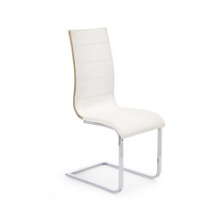K104 krzesło biały/sonoma ekoskóra - Halmar