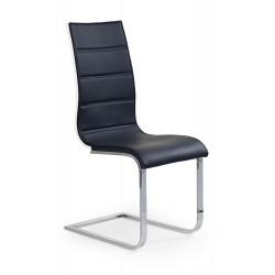 K104 krzesło czarny/biały ekoskóra - Halmar